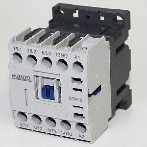 MINI CONTATOR 12A/AC3 - BOB: 24VCA - AUX: 1NA  CTM12-B5-310