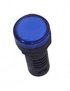 SINALEIRO LED 22MM - 12VCA/CC AZUL IP65  L20-R9-BLP