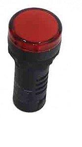 SINALEIRO LED 22MM - 12VCA/CC VERMELHO IP65  L20-R9-R