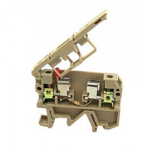 CONECTOR PORTA-FUSIVEL SECCIONAVEL C/ SINALIZACAO LED 220V PARA TRILHOS TS32 E TS35  MAB1-F-220V