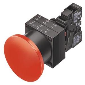 botão cogumelo/com retenção/plástico/1NF/ vermelho 3SB3203-1CA21
