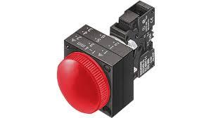 sinaleiro 3SB3204-6AA20  vermelho, soquete direto CA/CC, plástica 3SB3204-6AA20