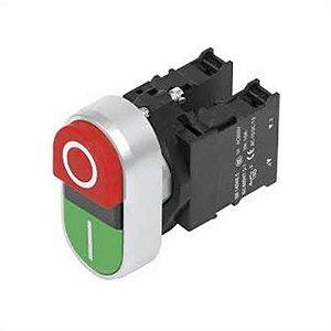 botão de comando duplo s/ sinalização 1NA+1NF 3SB6130-3AA24-1MK0