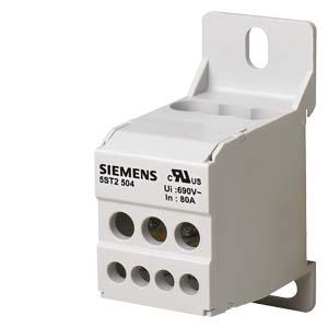 bloco de distribuição 1p 80A 690V   din 5ST2504