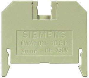 conector de passagem, 4mm, bege, parafuso 8WA1011-1DG11