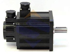 Servo motor tipo AC - 220V / 1500 RPM  - 17bit  - Tamanho da extrutura do motor de 180mm  - 3,0KW 19,1Nm  - com eixo chaveta com orifício de parafuso, com freio e com lacre de óleo DELTA ECMA-F21830SS