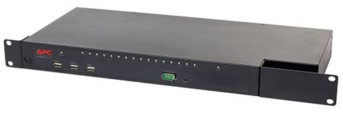 KVM1116P - Switch KVM 2G da APC, digital/IP, 1 usuário remoto, 1 usuário local, 16 portas com Virtual Media