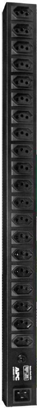 AP0001-BR - RACK PDU APC 115V/220V 16A Basic Rack Entrada IEC C20 - Saída NBR14136