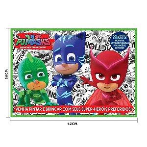 PJ Masks Prancheta Gigante Para Colorir