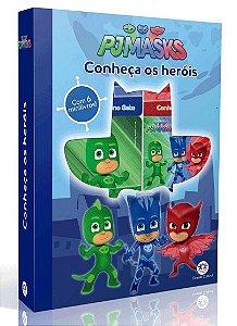 Livro Infanttil Box PJ Masks 6 Mini Livros Conheça os Heróis