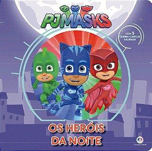 Livro Infantil Pj Masks Com Quebra Cabeça Heróis da Noite