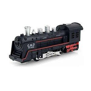 Trem de Brinquedo Locomotiva Com Som e Luz 12 Trilhos