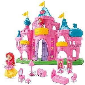 Castelo De Princesa Rosa Gigante Com Boneca e Acessórios