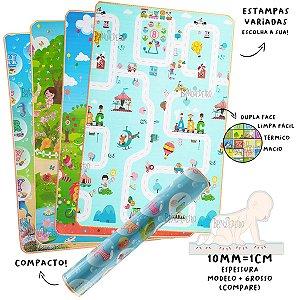 Tapete Infantil Dupla Face 10mm - 1,80 x 1,20 cm