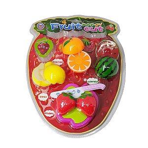 Fruta Crec Crec Com Velcro Kit com Faca e Tabua
