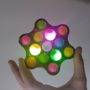 Spinner Popit com Luz Grande