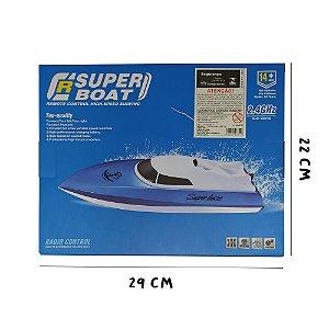 lancha de controle remoto super boat