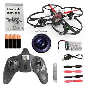 Drone com Câmera para Crianças e Adultos Kit com Acessórios