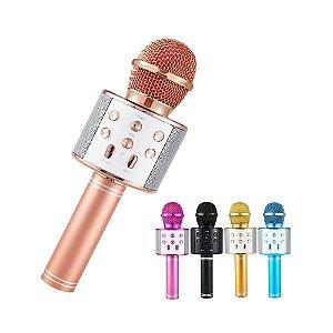 Microfone Karaokê Sem Fio Com Sons