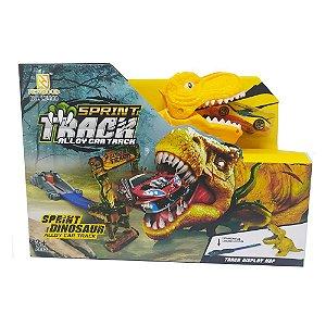 Pista dinossauro amarelo com carrinho Track