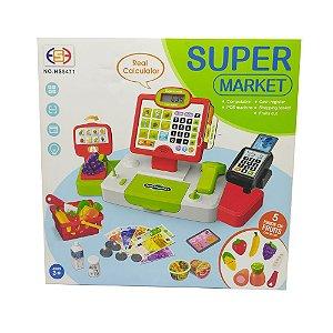 Brinquedo caixa registradora super market grande
