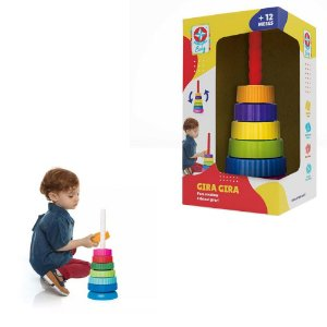 Brinquedo Gira Gira colorido para encaixar- Estrela