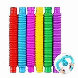 Pop Tube Pop it Tubo colorido P Fidget Toy