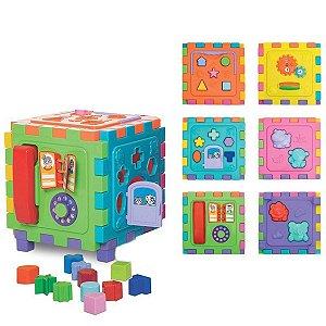 Cubo Didático colorido grande