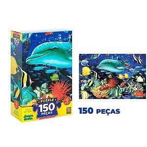Quebra cabeça Amigos do Mar c/ 150 peças