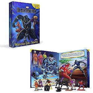 Livro Black Panther Wakanda para sempre com miniaturas