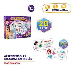 Jogo educativo Princesas Disney Aprendendo Inglês
