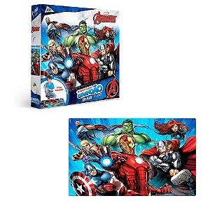 Quebra cabeça grandão infantil Vingadores 120 pçs- Toyster