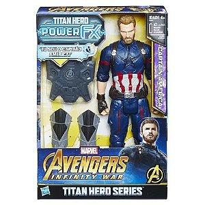 Boneco Capitão America Titan Heroes Series Power Fx - Hasbro
