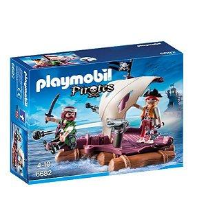 PLAYMOBIL - PIRATAS - JANGADA COM CANHÃO 6682