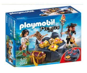 PLAYMOBIL - PIRATAS - O TESOURO ESCONDIDO - 6683