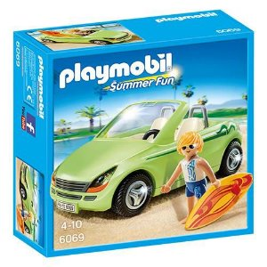PLAYMOBIL - SUMMER FUN - SURFISTA COM CARRO CONVERSÍVEL