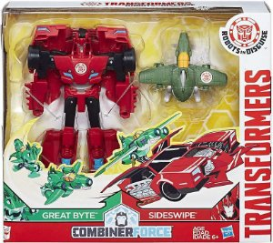 TRANSFORMERS ROBOTS IN DISGUISE - COMBINERFORCE – GREAT BYTE E SIDESWIPE