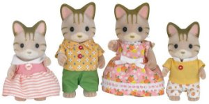 Sylvanian families família dos gatos listrados 5180