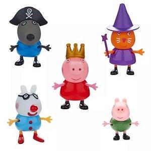 Peppa Pig Conjunto com 5 Bonecos