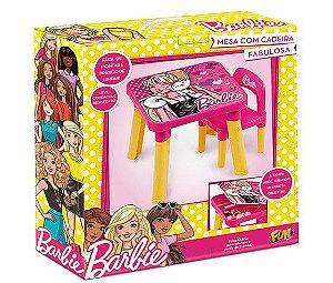 Mesa Infantil Didática Mesinha Infantil Barbie