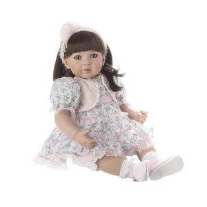 Bebê Reborn Boenca tipo Bebê de Verdade Realista Laura Flower Barato