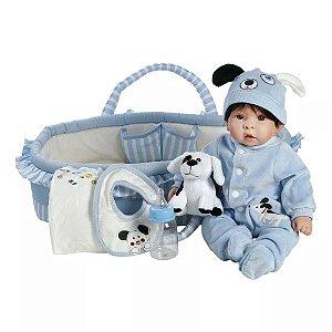 Bebê Reborn Boneco tipo Bebê de Verdade Realista Kit Completo
