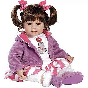 Bebê Reborn Boneca Menina Realista Boca Aberta Adora Doll Balancing