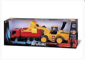 Caminhão e escavadeira Brutale Construction