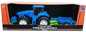 TRATOR TRAÇADO - ARADO - AZUL 0372