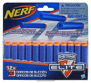 Nerf Refil de Sucção com 12 dardos