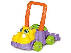 Andador Didático Andador Feliz Hipopótamo Calesita Brinquedos
