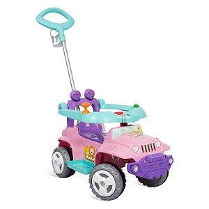 Banjipe Passeio Andador Rosa - Bandeirante Brinquedos