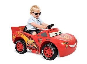 Relâmpago McQueen Carros - Carro eltrico infantil 6V Bandeirante Brinquedos