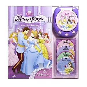 Disney Music Player - Princesas - Livro de Histórias - 20 Músicas